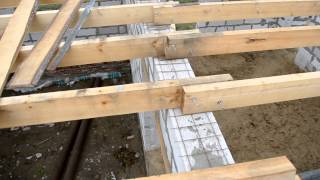 перекрытие первого этажа балками, Армопояс (поясок для сна) (день 2)(Большой АРМОПОЯС будет на метр выше, на этом уровне он мне не нужен. Сделал маленький поясок из сибитной..., 2013-07-17T07:26:40.000Z)