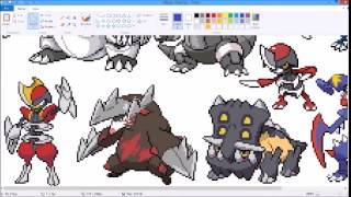 let s make lux made mega pokemon sprites ep 2 mega haxorus requested by emily borchers