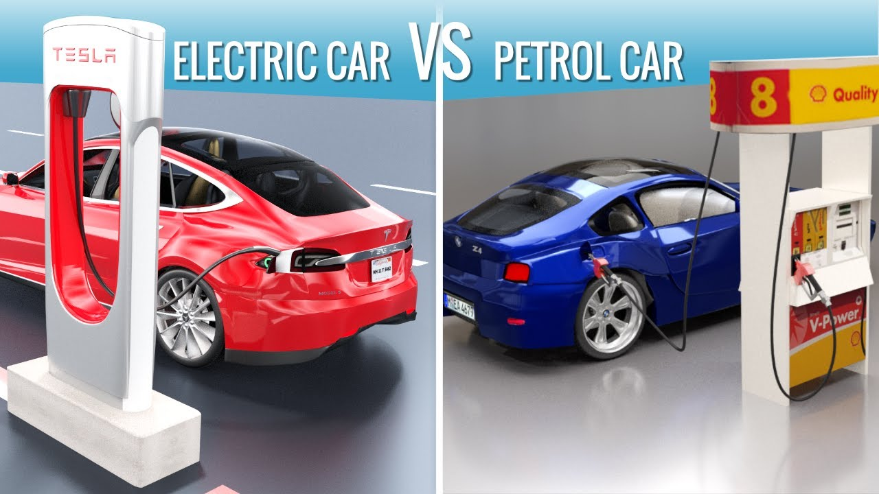 Image result for electric car vs gas car