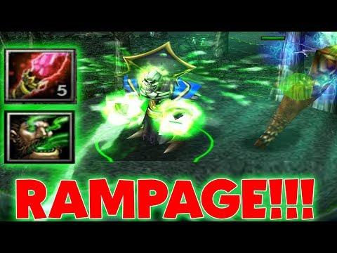 DOTA PUGNA RAMPAGE!!! (2000 DAMAGE NUKE IN 1 SECOND)