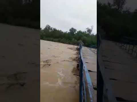 Обрушения моста в Кизинку.