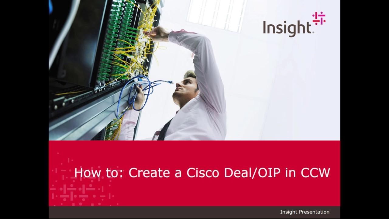 Cisco OIP Deal Registration Walk through