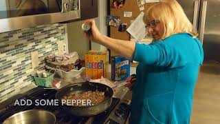 My mom's recipe for American chop suey