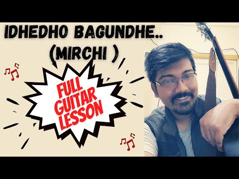Idhedho bagundhe  Telugu song   guitar lesson   MIRCHI