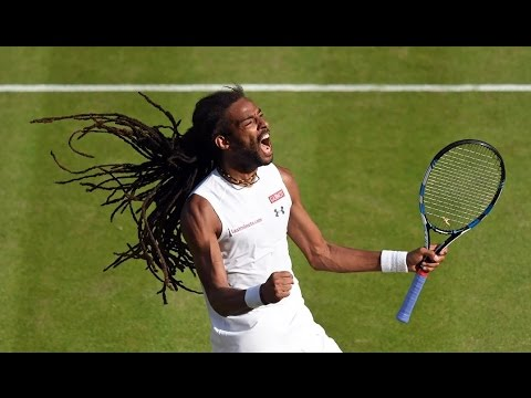 Thumbnail: Dustin Brown ☆ 50 crazy winners (forehands, backhands, tweeners, tricks, drop shots...)