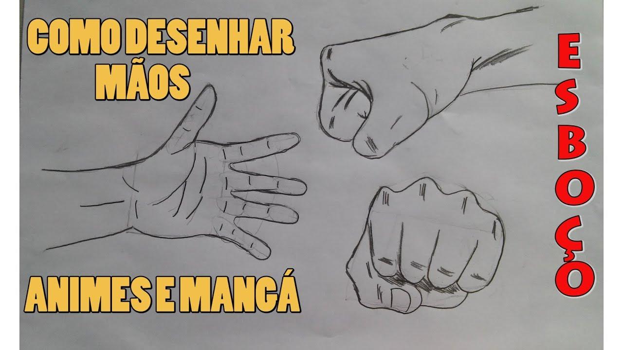 Como Desenhar Maos De Anime E Manga How To Draw Hands Youtube