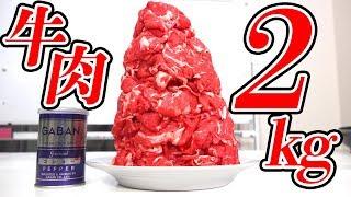 ジャスト100kcalになるまで肉を食べ続けろ!!!【肉2kg】