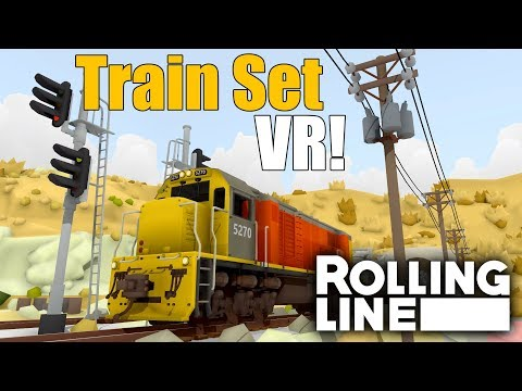 Model Railroad Train Track Plans – Achieving The Utmost From Your Scenic MODEL TRAIN VR GAME!  –  Rolling Line  –  First Look  –  Part 1