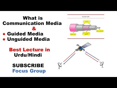 Communication Media || Guided Media & Unguided Media || Lecture in Urdu/Hindi