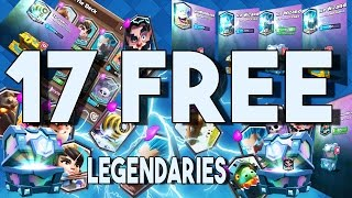 17 FREE LEGENDARIES! How To Get All Legendaries For Free | Clash Royale