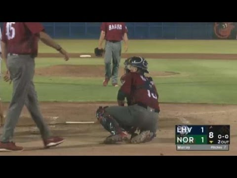 Fastball catches Lehigh Valley catcher off guard