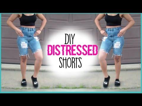 DIY Kylie Jenner Inspired Distressed Shorts Jasmyn
