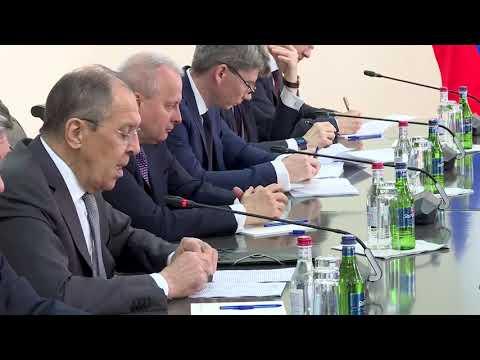 С.Лавров и А.Айвазян, Ереван, 6 мая 2021 года