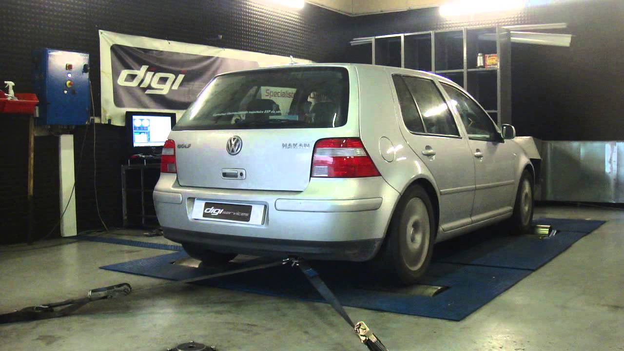 reprogrammation moteur vw golf 4 tdi 130cv 171cv dyno digiservices paris youtube. Black Bedroom Furniture Sets. Home Design Ideas