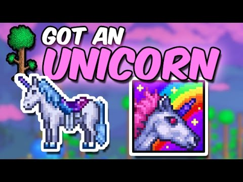 Terraria Dude I Found A Unicorn Youtube