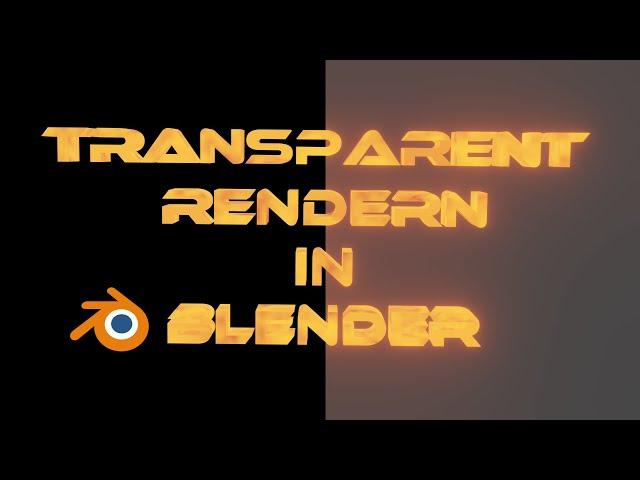 Blender Tutorial Transparent PNG