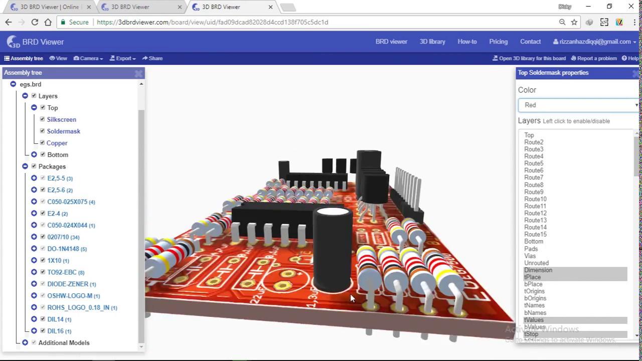 3D BRD Viewer Eagle PCB