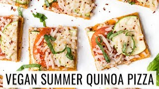 SUMMER QUINOA PIZZA with tomato & zucchini | VEGAN & GLUTEN-FREE