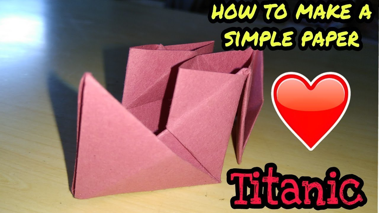 how to make simple paper titanic step by step how to make a paper