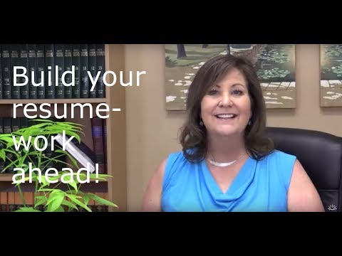 Get the Job! - Build your resume by working ahead!
