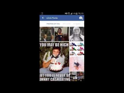 Delete facebook album on android