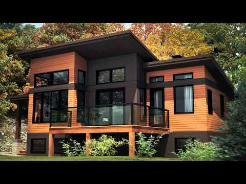 plan de chalet modulaire pro fab mod le panorama youtube. Black Bedroom Furniture Sets. Home Design Ideas