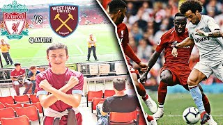 LIVERPOOL 4-0 WEST HAM! MATCHDAY VLOG ⚒! AWFUL PERFORMANCE😡
