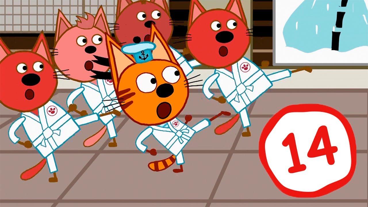 Три Кота | Сборник серий №14 | Мультфильмы для детей | 131-140 Серии