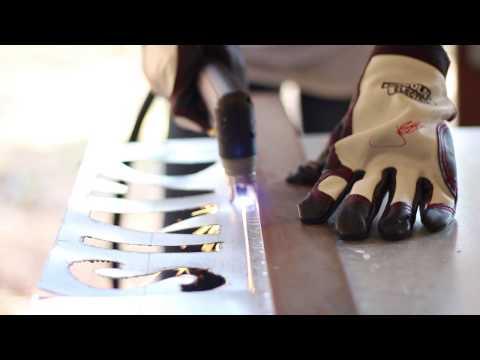 DIY Metal & Wood Sign // Plasma Cutting