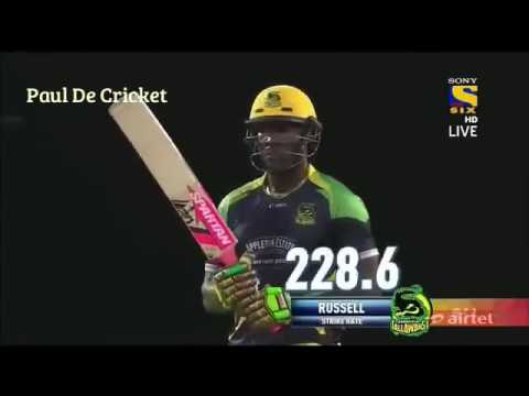 Andre Russell power hits 100 off 42