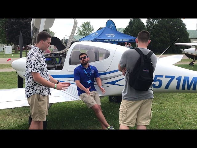 90-second tour of 2019 EAA AirVenture with MTSU Aerospace