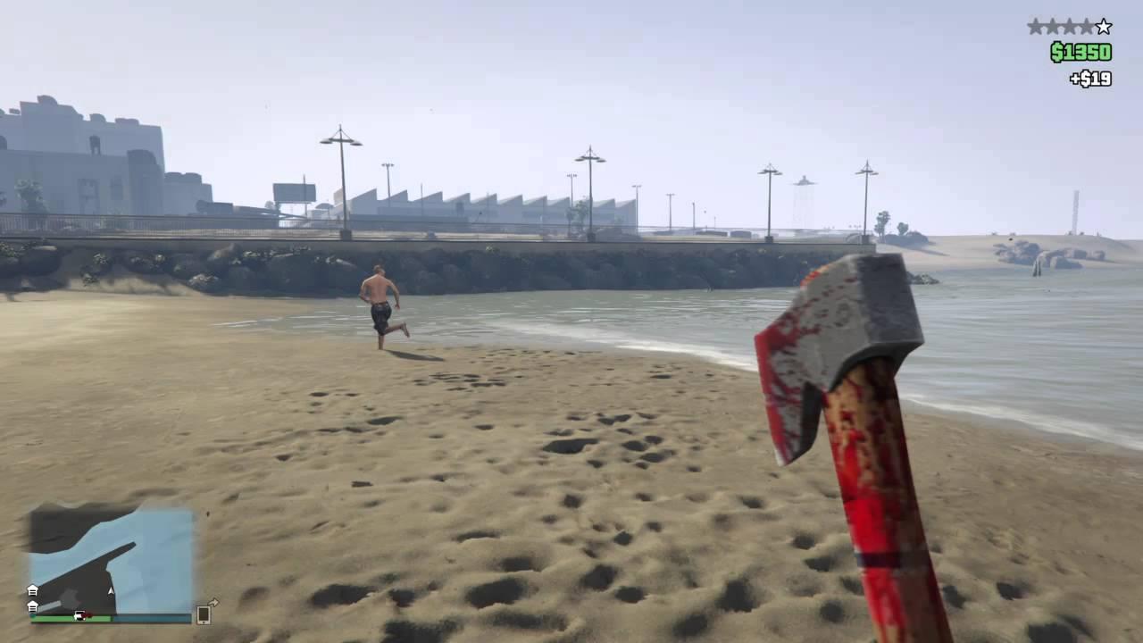 Gta 5 First Person Axe Beach Killing - Youtube-9462