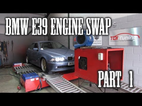 BMW E39 Engine Swap ~ Part One - YouTube