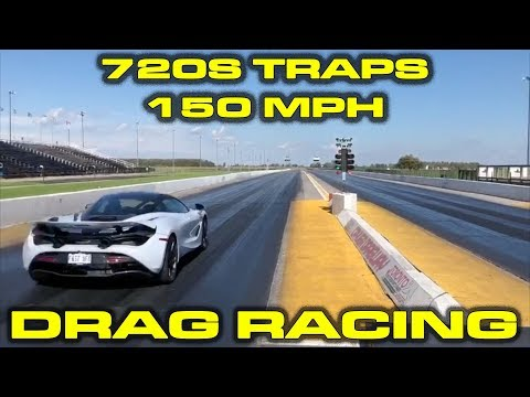 Stock McLaren 720S traps 150 MPH down the 1/4 Mile
