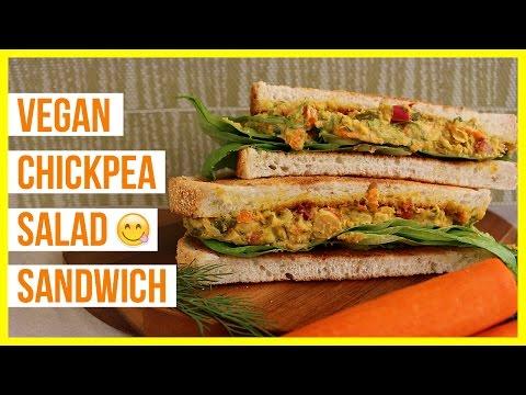 Vegan Chickpea Salad Sandwich (Easy Healthy Lunch Idea)
