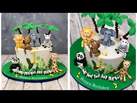 Wild Animal Cake | Jungle Cake