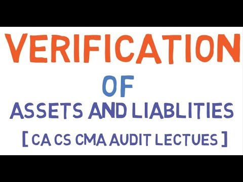 Verification Of Assets And Liabliites [ CA CS CMA AUDIT LECTURES ]