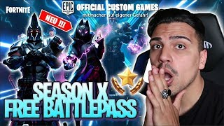 DUO CUSTOM GAMES 🔥 ⚡️BATTLE PASS ⚡️ SEASON X 💪 ' FORTNITE BATTLE ROYALE ANGLETERRE 🔴