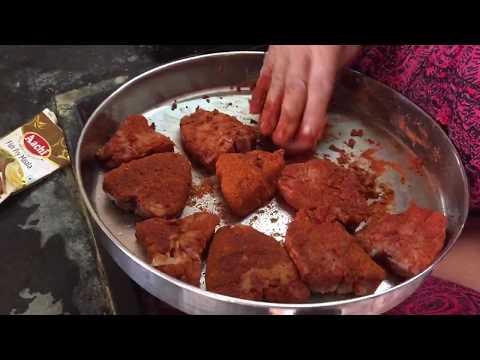 Jack Fish Fry Preparation - Fish Bought Directly From Fisherman At Kovalam Beach