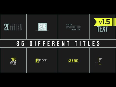 35 Different Titles (After Effects Template)