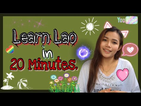 Learn Lao in 20 Minutes.