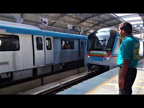 First Journey || Hyderabad Metro Train || Miyapur To Ameerpet || #LetsRewind