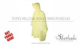 Totes Yellow Adult Rain Poncho