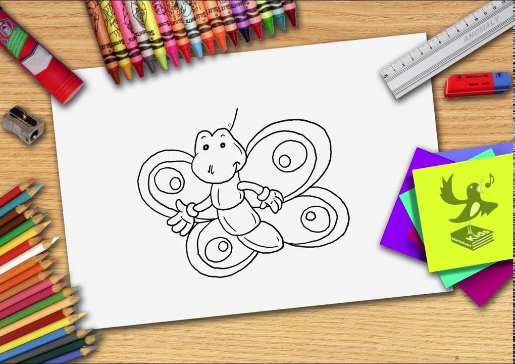 Bekend Hoe teken je een vlinder? Zelf vlinders leren tekenen - YouTube &NI41