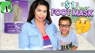 TRYING DOLLAR TREE PRODUCTS: $1 Foot Mask?! Sensational Finds