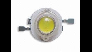3W white Led chip beads  3v-12v 170 Lumen Emitting Test