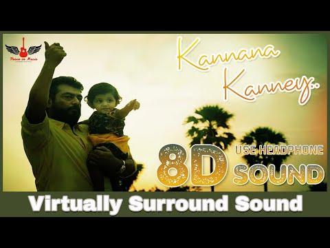 Kannaana Kanney | 8D Audio Song | Viswasam | Ajith Kumar, Nayanthara | Tamil 8D Songs