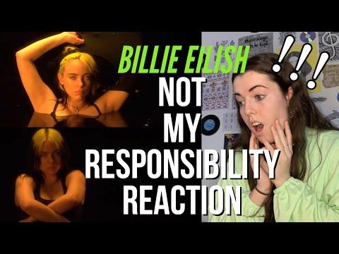 BILLIE EILISH – NOT MY RESPONSIBILITY // REACTION!!! :0