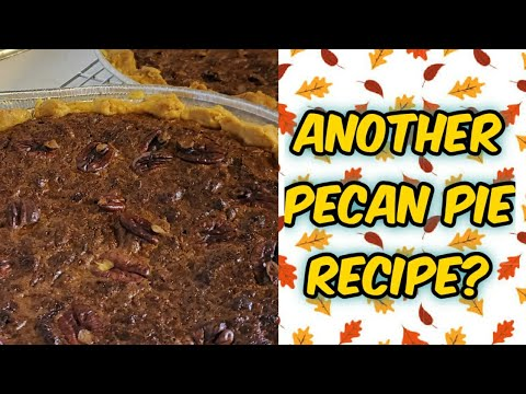 Old Fashioned Pecan Pie. NO CORN SYRUP.   Holiday Recipe   Easy Baking