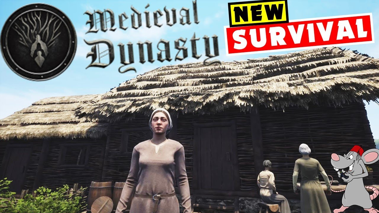 MEDIEVAL SURVIVAL - First Gameplay! Building Our First Home In Medieval Dynasty